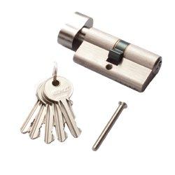 Цилиндровый механизм РЕНЦ CS 60-H SN К-З никель матовый