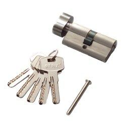 Цилиндровый механизм РЕНЦ CC 60-H SN К-З никель матовый