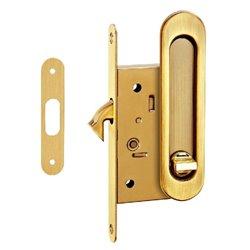 Комплект ручек Tixx для раздвижных дверей с замком SDH-BK 501 SG латунь матовая