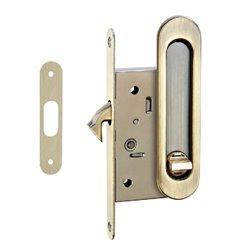 Комплект ручек Tixx для раздвижных дверей с замком SDH-BK 501 AB бронза античная