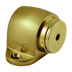 Ограничитель дверной Ренц напольный магнитный DSM 32 PB латунь блестящая