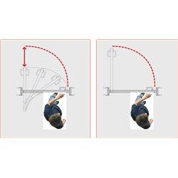 Направляющая Morelli свинг-системы хром SWING TRACK 89 CHROME