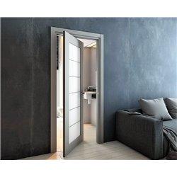 Комплект для двери Morelli 2400х700, с доводчиком, цвет фурнитуры - хром