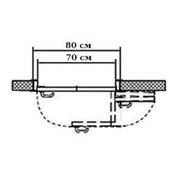 Комплект для правой двери (черновой проем 800мм) Morelli 180-TWICE RIGHT 70