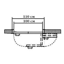 Комплект для правой двери (черновой проем 1100мм) Morelli 180-TWICE RIGHT 100
