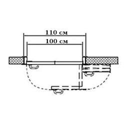 Комплект для левой двери (черновой проем 1100мм) Morelli 180-TWICE LEFT 100
