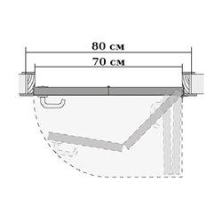 Комплект для правой двери (черновой проем 800мм) Morelli 90-TWICE RIGHT 70