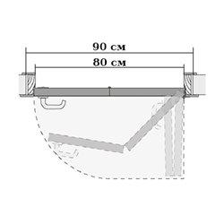 Комплект для правой двери (черновой проем 900мм) Morelli 90-TWICE RIGHT 80