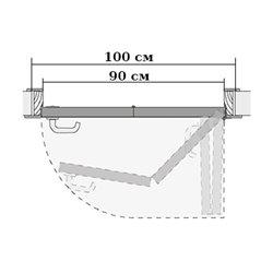 Комплект для правой двери (черновой проем 1000мм) Morelli 90-TWICE RIGHT 90