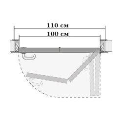 Комплект для правой двери (черновой проем 1100мм) Morelli 90-TWICE RIGHT 100