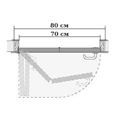 Комплект для левой двери (черновой проем 800мм) Morelli 90-TWICE LEFT 70