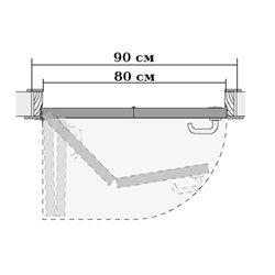 Комплект для левой двери (черновой проем 900мм) Morelli 90-TWICE LEFT 80