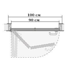 Комплект для левой двери (черновой проем 1000мм) Morelli 90-TWICE LEFT 90