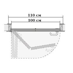 Комплект для левой двери (черновой проем 1100мм) Morelli 90-TWICE LEFT 100