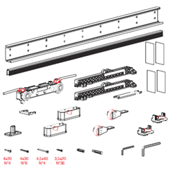 Комплект для двери Morelli 80-110см