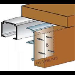 Планка для крепления наличника на направляющий профиль Morelli ART.1480/SFS