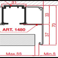 Декоративный профиль Morelli 2м TRACK-D 1480/200