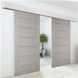 Комплект для двустворчатой двери Morelli от 1464 до 1500мм, двойной доводчик