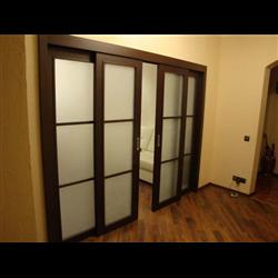 Комплект для двустворчатой двери Morelli до 100кг, двойной доводчик