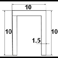 Нижняя направляющая Morelli TRACK-B 10x10x10 1M