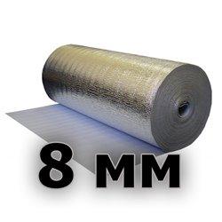 Подложка изодом вспененный полиэтилен + фольга алюминиевая 8мм