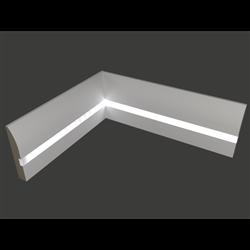Плинтус напольный для светодиодной подсветки PN 080 led