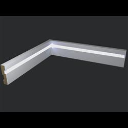 Плинтус напольный для светодиодной подсветки PN 021 led