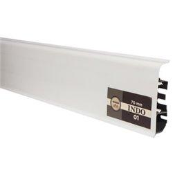 ПЛИНТУС ARBITON INDO 70мм 01 белый блеск