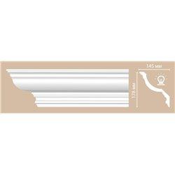 Плинтус потолочный гладкий DECOMASTER DP372