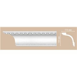 Плинтус потолочный с рисунком DECOMASTER DT-88107F гибкий