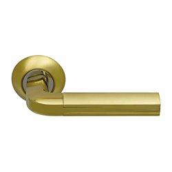 Ручка дверная ARCHIE SILLUR на круглой накладке SILLUR SILLUR 96 S.GOLD/P.GOLD