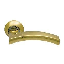 Ручка дверная ARCHIE SILLUR на круглой накладке 132 S.GOLD/P.GOLD
