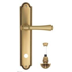 """Дверная ручка Venezia """"CALLISTO"""" WC-4 на планке PL98 французское золото + коричневый"""