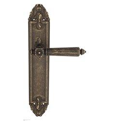 """Дверная ручка Venezia """"CASTELLO"""" на планке PL90 античная бронза"""