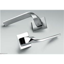 Дверная ручка на квадратном основании COLOMBO Isy BL11RSB-CR полированный хром
