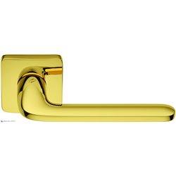 Дверная ручка на квадратном основании COLOMBO Roboquattro S ID51RSB-OL полированная латунь