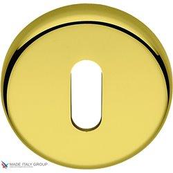 Накладка под ключ буратино на круглом основании COLOMBO CD1063G-OL полированная латунь