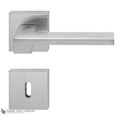 Дверная ручка на квадратном основании COLOMBO Zelda MM11R-CM матовый хром