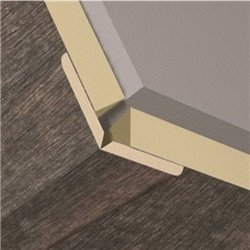 Уголки для стеновых панелей KRONOWALL 3D 8529 2600х22х22(K061)
