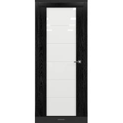 RADA Межкомнатные двери Marco исполнение 2 ДО12 Noir - (Черная эмаль)
