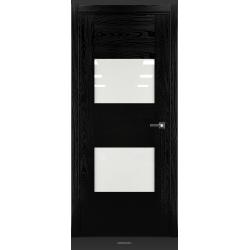 RADA Межкомнатные двери Bruno исполнение 1 ДО1 Noir - (Черная эмаль)