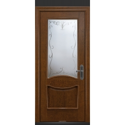 RADA Межкомнатные двери Барселона ДО15 Дуб коньяк