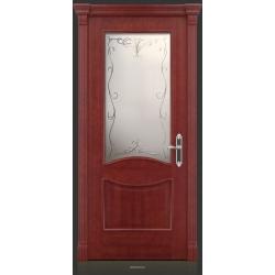 RADA Межкомнатные двери Барселона ДО15 Красное дерево