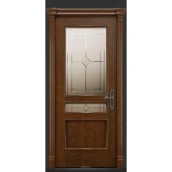 RADA Межкомнатные двери Палермо исп1 ДО1 Дуб коньяк