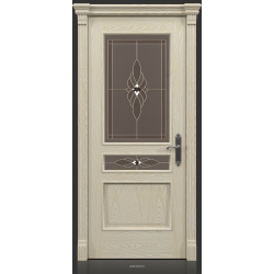 RADA Межкомнатные двери Палермо исп1 ДО2 Белое золото ГОЛД