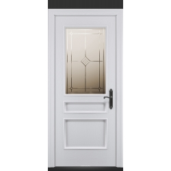 RADA Межкомнатные двери Палермо исп3 ДО1 Blanc - (Белая эмаль)