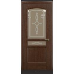 RADA Межкомнатные двери Неаполь исп1 ДО Темный орех