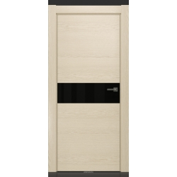 RADA Межкомнатные двери X-Line исполнение 1 ДО Ice cream (Айс крим) 2 (черный лакобель)