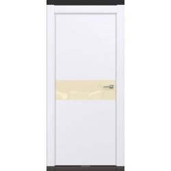 RADA Межкомнатные двери X-Line исполнение 1 ДО Blanc - (Белая эмаль) 3 (светло-коричневый лакобель)