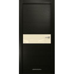 RADA Межкомнатные двери X-Line исполнение 1 ДО Double black (Дабл блэк) 4 (светло-бежевый лакобель )